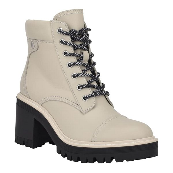 MARC FISHER LTD wenner lace-up boot in dark cotton leather