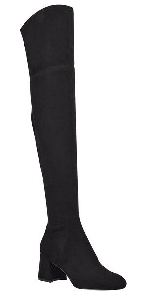 MARC FISHER LTD yahila over the knee boot in black faux suede