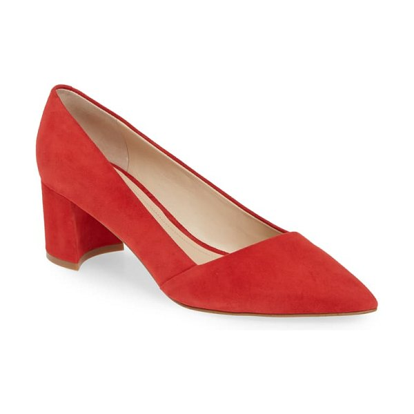 MARC FISHER LTD yovani pointy toe pump in red suede