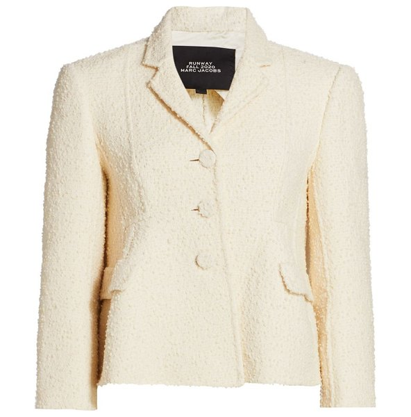Runway Marc Jacobs bouclé shaped wool-blend jacket in ivory