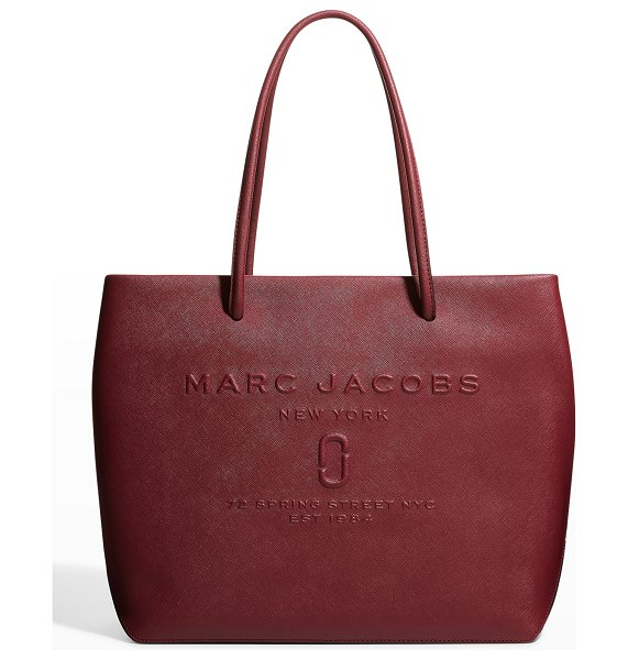 Marc Jacobs East-West Logo Leather Tote Bag in vachetta red