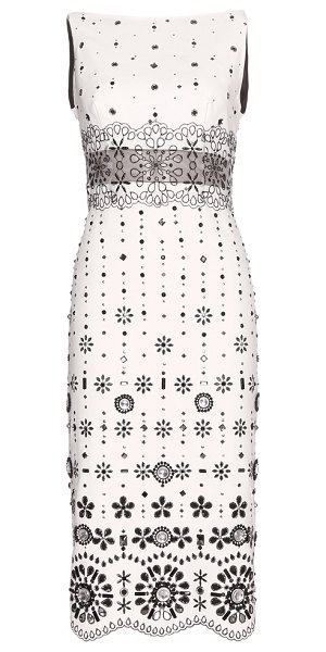 Marc Jacobs Embellished dress in white - Showered with intricate details, this Marc Jacobs dress...