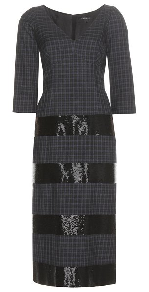 Marc Jacobs Embellished wool dress in blue - We are obsessed with this beaded dress from Marc Jacobs.