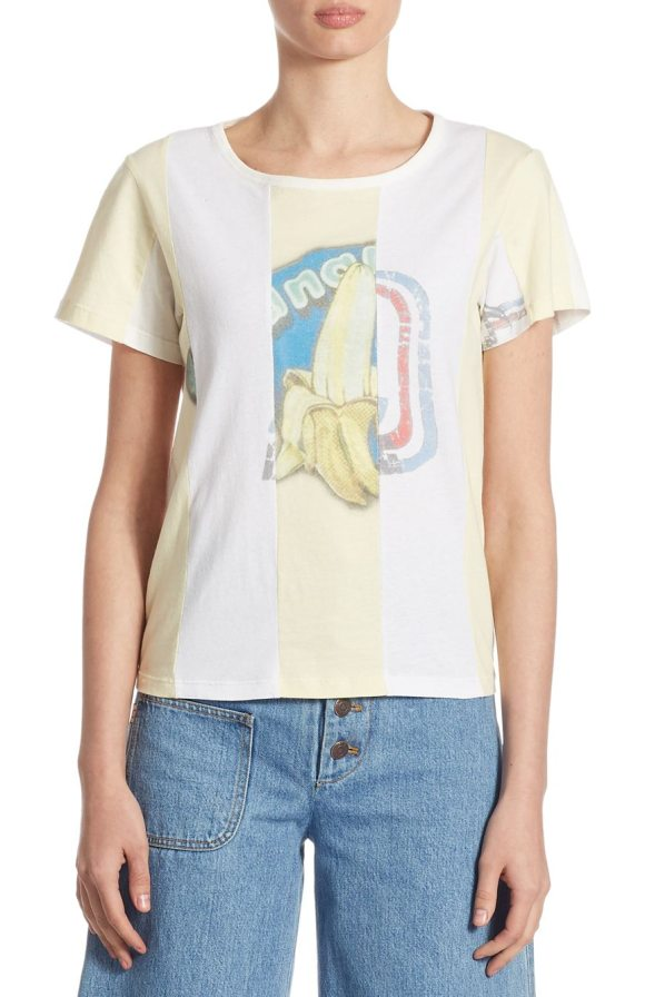Marc Jacobs graphic cotton tee in ivory multicolor - Cotton tee in a colorful banana print. Roundneck. Short...
