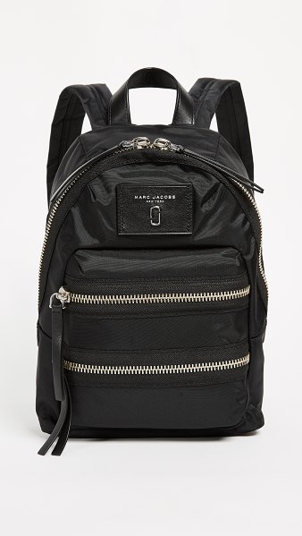 The Marc Jacobs mini nylon biker backpack in black