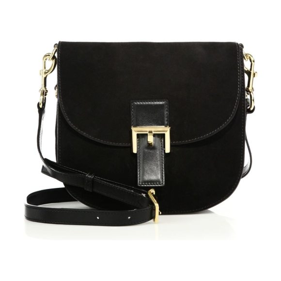 The Marc Jacobs ns decoy suede saddle bag in black