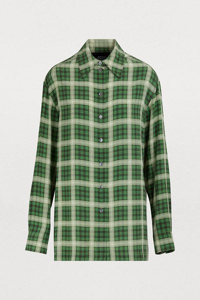 Marc Jacobs Silk shirt in green/multi