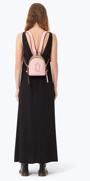 Marc Jacobs snapshot mini leather backpack in women~~bags~~backpack - A polished stacked-J logo emblem and bold color blocking...
