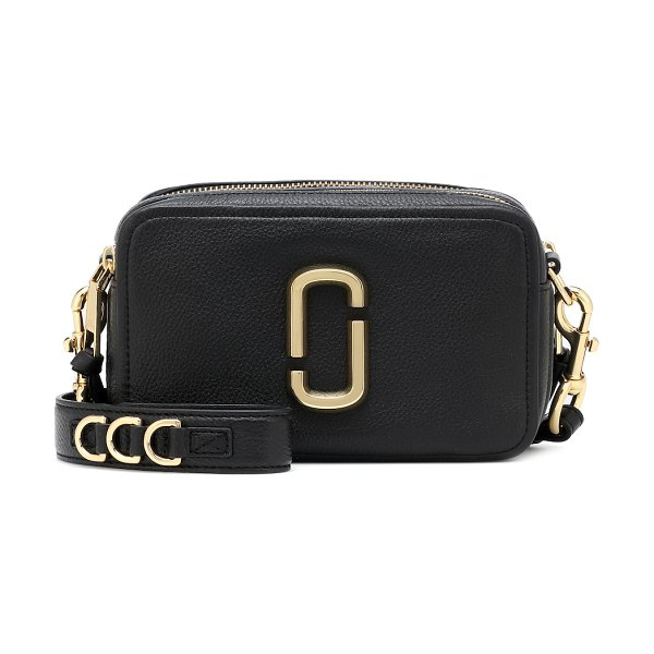 Marc Jacobs softshot 21 leather crossbody bag in black