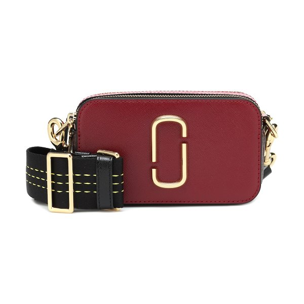 Marc Jacobs snapshot small leather crossbody bag in red