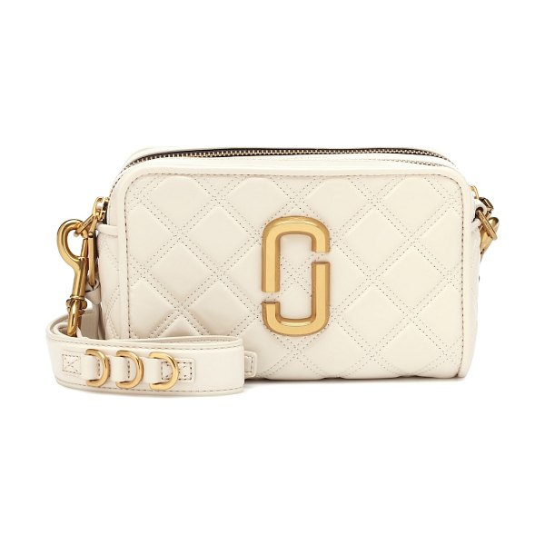 Marc Jacobs softshot quilted leather crossbody bag in white