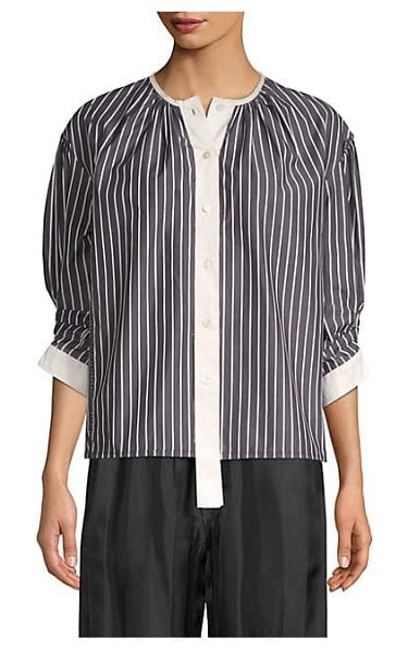 Marc Jacobs stripe button down top in black
