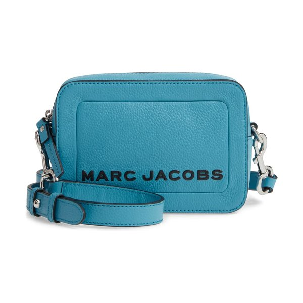 Marc Jacobs the box leather crossbody bag in windy blue