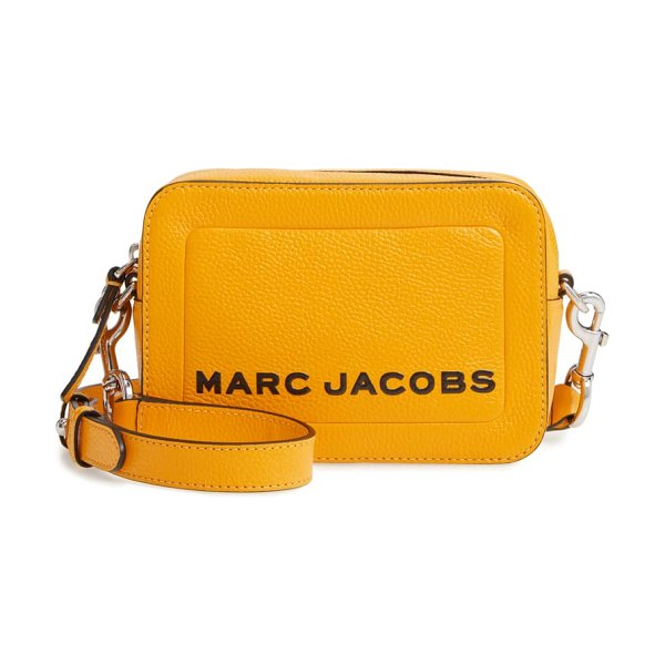 Marc Jacobs the box leather crossbody bag in bold gold