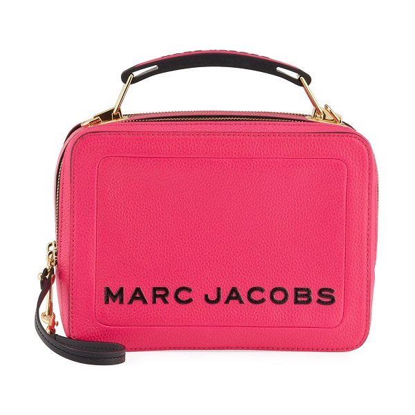 Marc Jacobs The Textured Box Crossbody Bag in bright pink