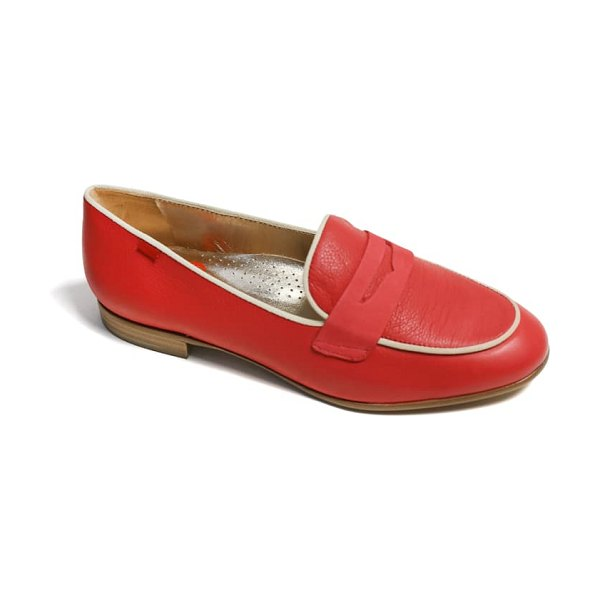 Marc Joseph New York bryant park penny loafer in strawberry soft