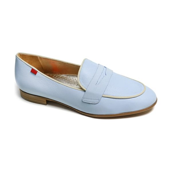 Marc Joseph New York bryant park penny loafer in baby blue soft
