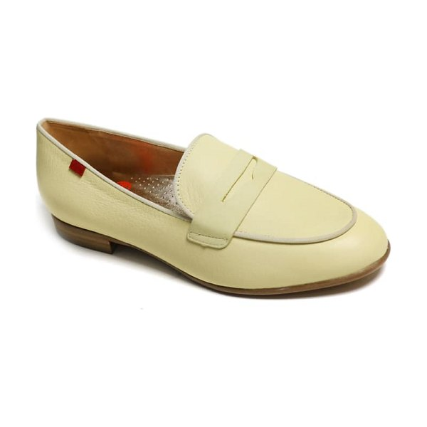Marc Joseph New York bryant park penny loafer in yellow soft