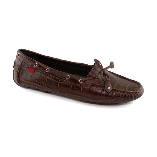 Marc Joseph New York cypress hill loafer in cappuccino croco print leather