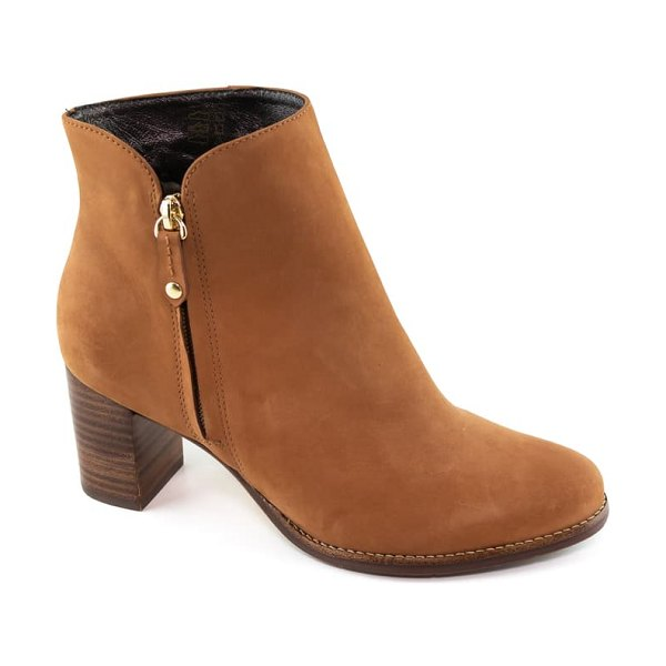Marc Joseph New York grand central bootie in cognac nubuck leather