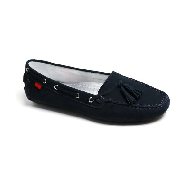 Marc Joseph New York prospect park tassel loafer in navy nubuck