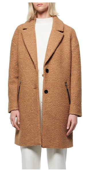 MARC NEW YORK boucle car coat in camel