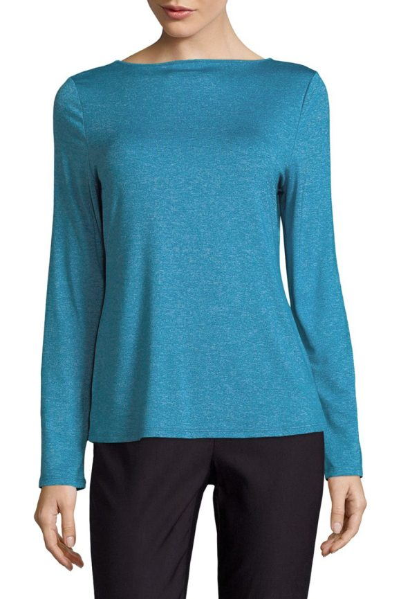 MARC NEW YORK PERFORMANCE Strappy Back Sweater - Cozy sweater heightened by subtle heathered finish....