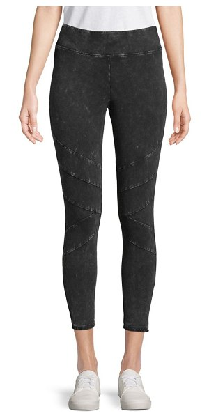 Marc New York Performance Washed Cropped Leggings in black