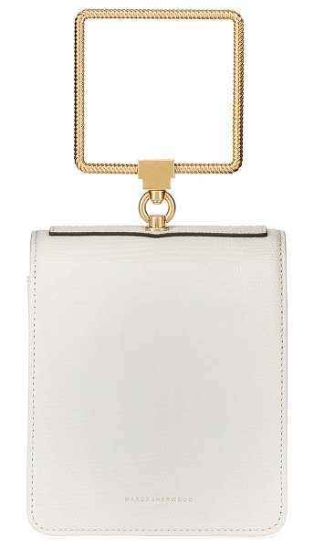 Marge Sherwood Pump Handle Bag in white