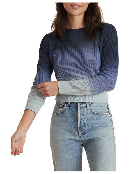 Marine Layer jess ombre cotton & cashmere sweater in blue ombre