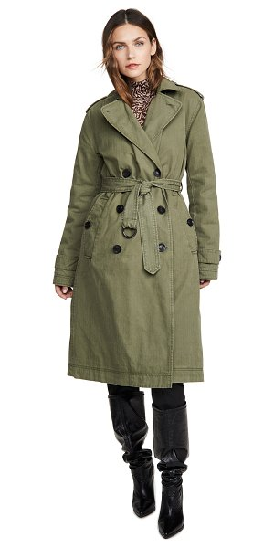 Marissa Webb raleigh trench coat in military green
