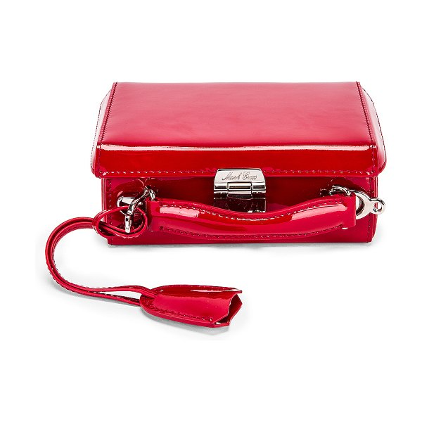 Mark Cross grace mini box bag in red