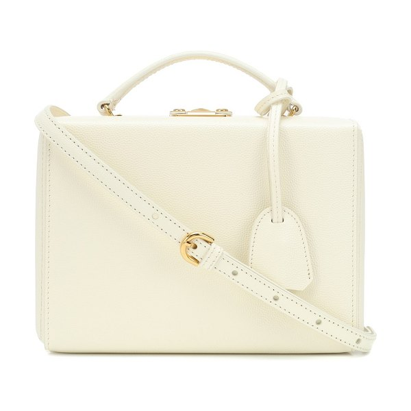 961addfa41 Mark Cross Grace Small Box Leather Shoulder Bag in White