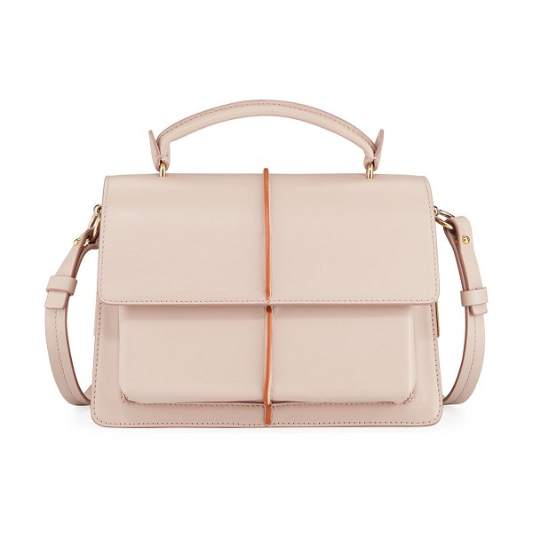 Marni Attache Leather Top Handle Bag in pink