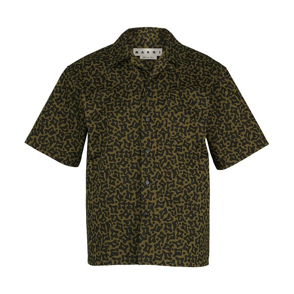 Marni Camouflage short-sleeved shirt in military camouflage