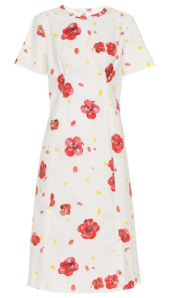 Marni floral cotton dress in white