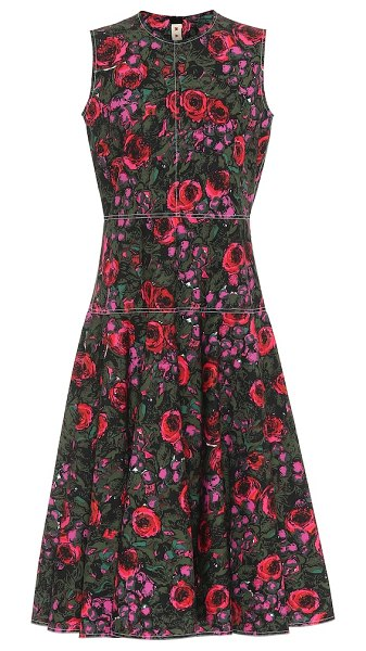 Marni floral cotton midi dress in multicoloured