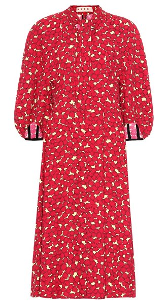 Marni floral dress in red