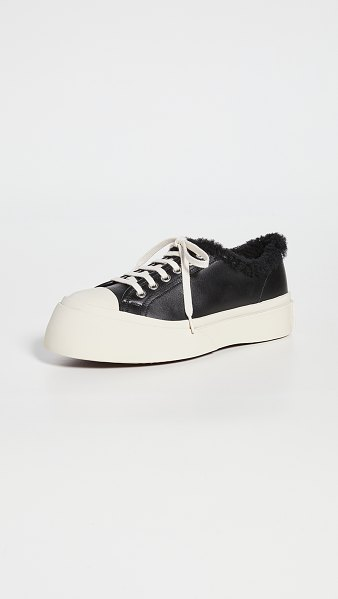 Marni gum soled lace up sneakers in black