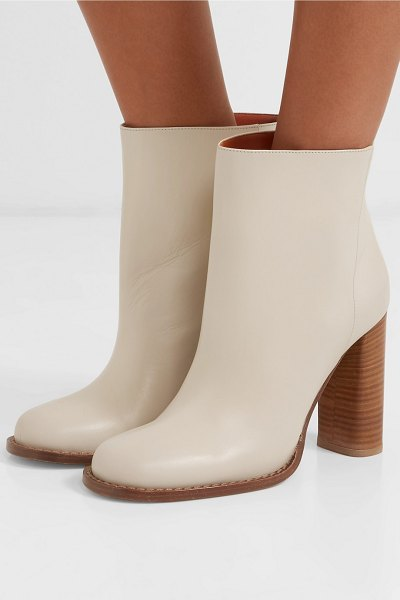 Marni leather ankle boots in white