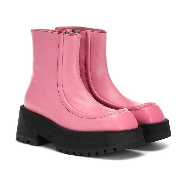 Marni leather ankle boots in pink