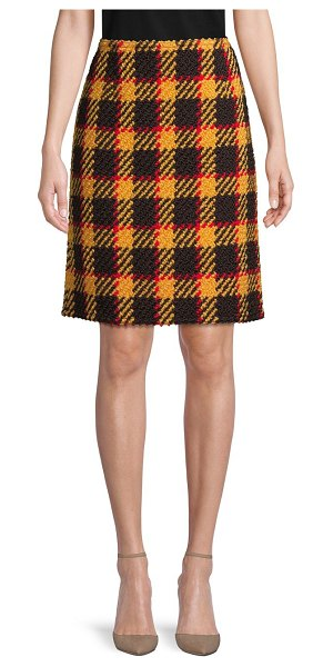 Marni Plaid Wool & Cotton-Blend Skirt in dawn