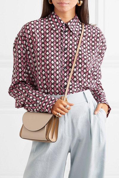 Marni pochette two-tone textured-leather belt bag in taupe - Neutral tones are primed to trend in a big way for...