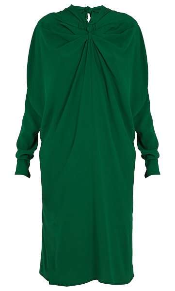 MARNI Ruched-front high-neck crepe midi dress in green - Marni's Pre-AW17 collection is defined by vibrant...