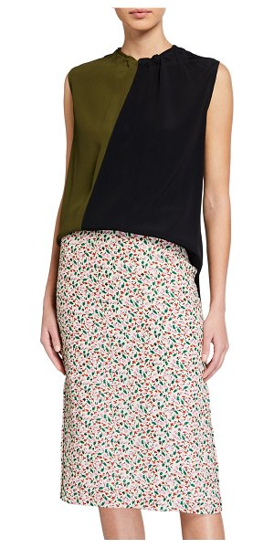 Marni Washed Crepe Tank Top in black