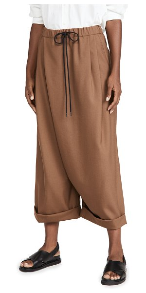 Marni wide trousers in maroon