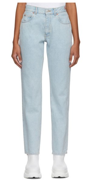 MARTINE ROSE blue straight-leg jeans in light blue