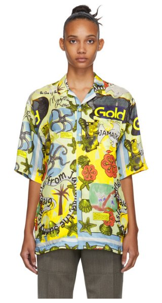 MARTINE ROSE multicolor  hawaiian shirt in jamaika
