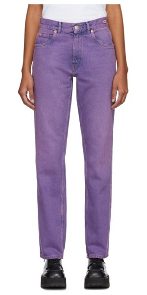 MARTINE ROSE straight-leg jeans in purple
