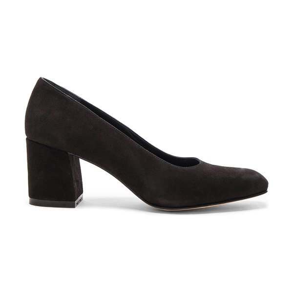 Maryam Nassir Zadeh Suede Maryam Pumps in black - Suede upper with leather sole.  Made in Turkey.  Approx...